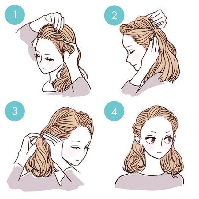 Как сделать простую прическу девочкам