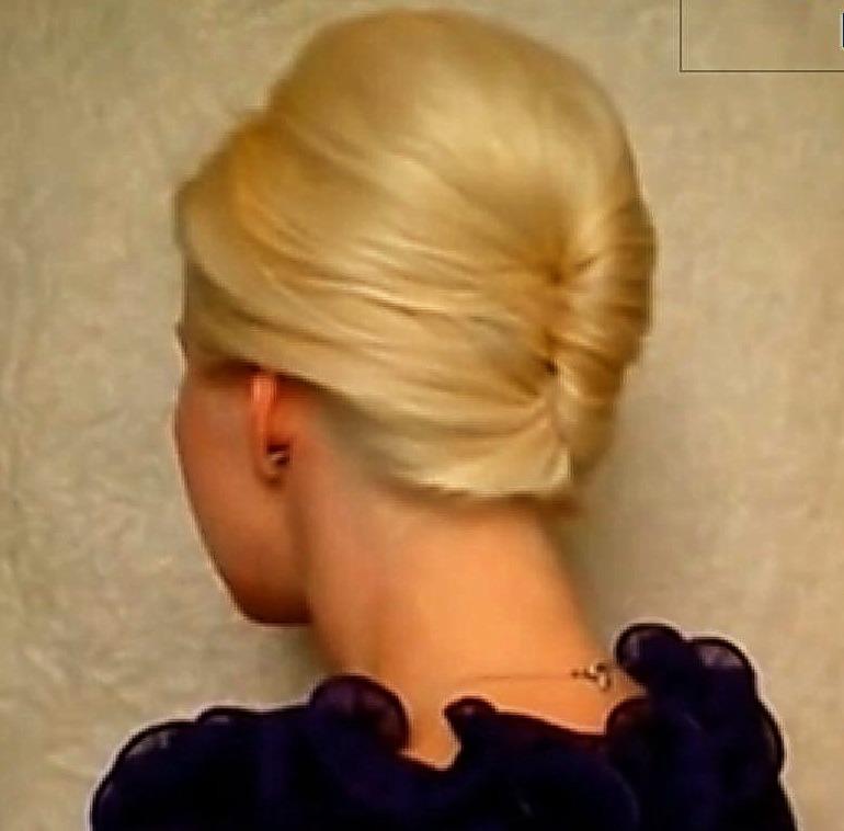 Быстрая прическа для средних волос пошагово фото
