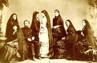 длинные волосы в истории