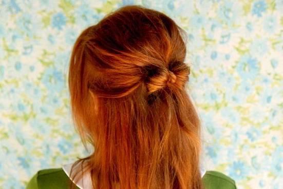 бантик из волос пошаговое фото