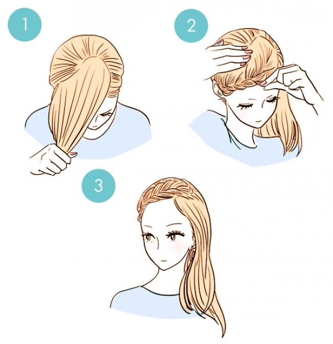 Как сделать прическу за 5 минут в домашних условиях на средние волосы