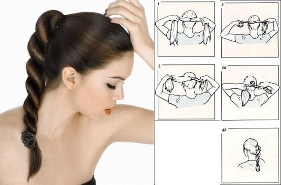 Красивая причёска своими руками на средние волосы фото пошагово