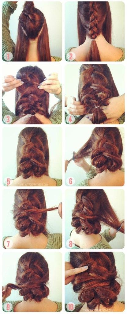 Прически с косами пошагово фото