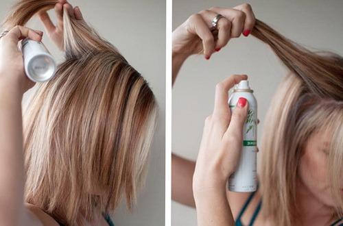 Сухой шампунь для волос как пользоваться