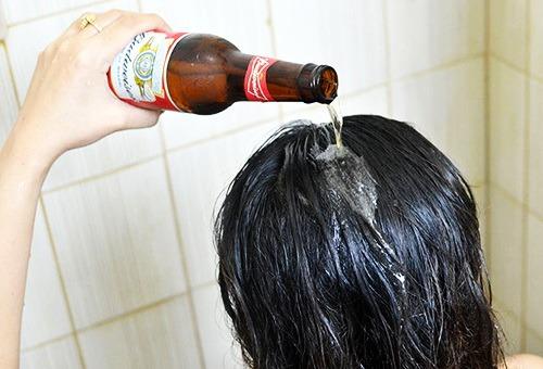 Применение пива для волос