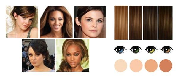 карие глаза, смуглая кожа цвет волос