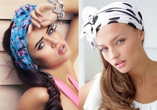 Прически с платком. Как красиво завязать платок на голове летом