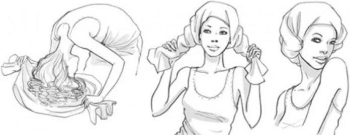 кудрявый метод сушки волос плопинг