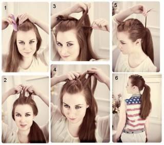 Как сделать себе ободок из волос 677